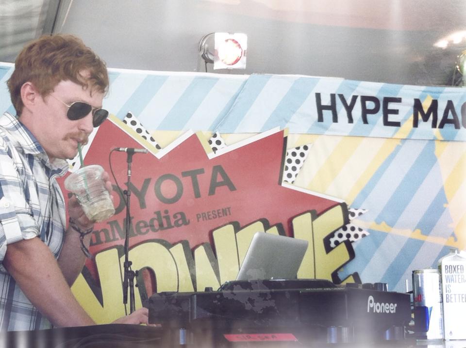 Fense DJing at Bumbershoot